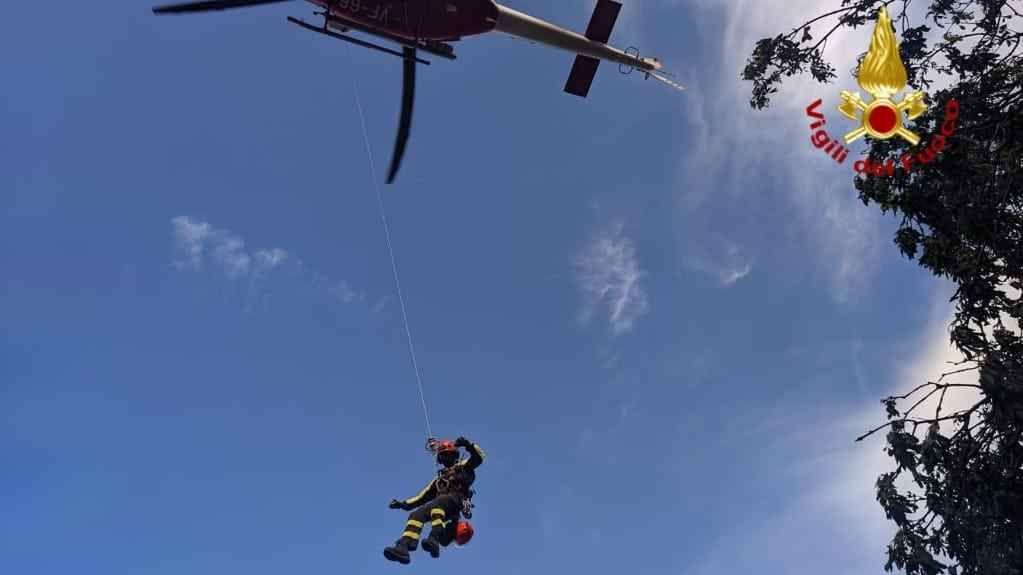 Turista di Milano recuperarata col verricello sul Monte Capanne all'Elba