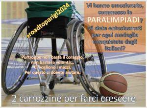 carrozzine sport disabili, raccolta fondi