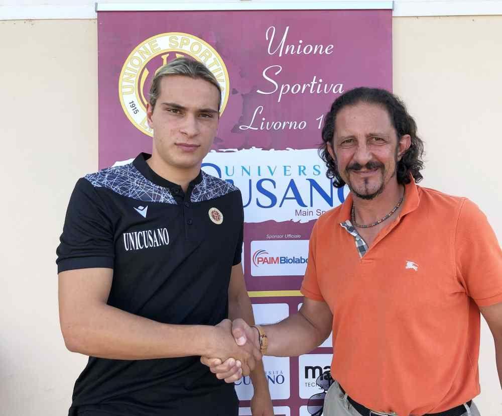 L'US Livorno tessera Federico Apolloni